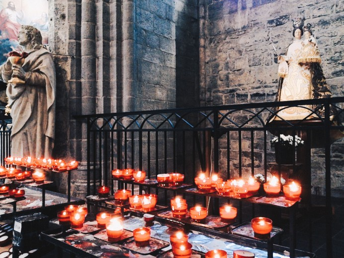 Inside Saint Nicholas' Church in Ghent